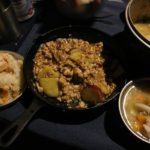 秋キャンプごはん。炊き込みご飯、豚汁、さつまいものそぼろ煮!
